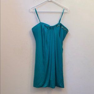 NWT Bcbg max Azria green beaded strapless dress